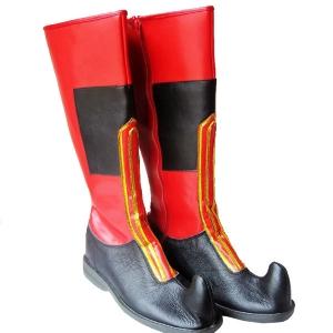 民族舞蹈靴子蒙古靴子藏靴新疆舞蹈鞋子羌族靴手工靴男式高筒鞋