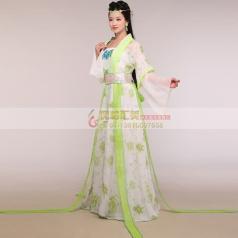 风格汇美女士古装演出服装定制女士古装舞台服定做厂家女士古装表演服