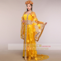 风格汇美宫廷公主礼服古装表演服定做演出服饰古代表演服定做厂家