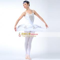 新款白色芭舞台蓬蓬裙定做_风格汇美演出服饰
