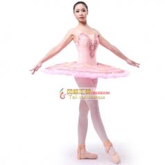 新款成人粉色系芭蕾舞纱裙舞台表演服定制_风格汇美演出服饰