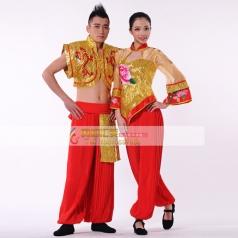 秧歌服装演出服  男士古典舞 开场舞 民族舞蹈定做
