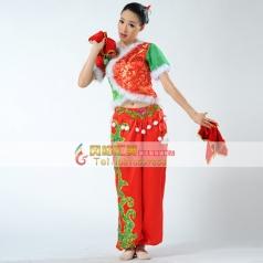 秧歌服装演出服 女装 古典舞 开场舞广场舞民族舞蹈定做