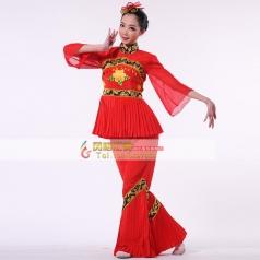 秧歌服装演出服 女装 古典舞 开场舞 民族舞蹈定做