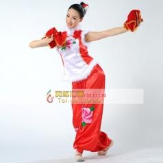 秧歌服装演出服 女装  开场舞民族舞蹈定做