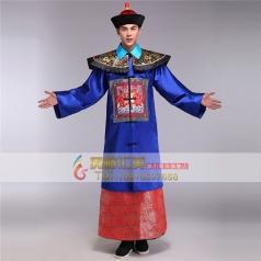 风格汇美新款古代影视演出服装 年会演出大臣服装 古代服装男