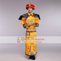 风格汇美新款古代影视演出服装 年会演出皇帝服装 古代服装男