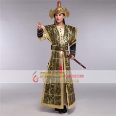 风格汇美古装将军服舞台演出服影视兵马俑盔甲男表演服古代服装