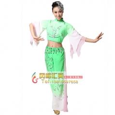 风格汇美 秧歌服装女装红色 演出服装秧歌舞蹈服装舞台装