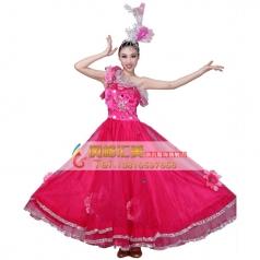 北京开场舞大摆裙 西班牙舞蹈大摆裙长裙演出服