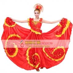 风格汇美 包邮开场舞蹈大摆裙演出服 现代舞台服演出伴舞服装