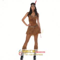 COSPLAY化妆舞会演出服装角色表演服饰成人女印第安人套装