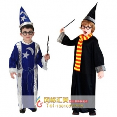 儿童节演出服装舞会表演游戏服装哈利波特服装星月魔法师服装巫师