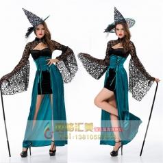 女巫装 巫婆女吸血鬼万圣节酒吧派对制服cosplay服装