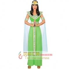 COSPLAY化妆舞会演出服装成人角色扮演服饰埃及皇后连衣裙