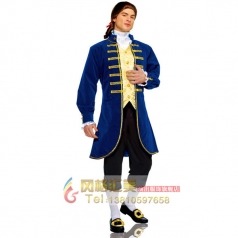 COSPLAY化妆舞会演出服装角色扮演成人男欧洲贵族政客装
