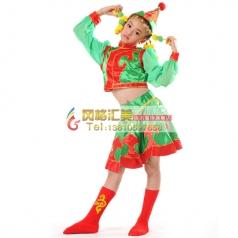 儿童蒙古舞蹈服装 少儿蒙古舞服装专业定制_风格汇美演出服饰