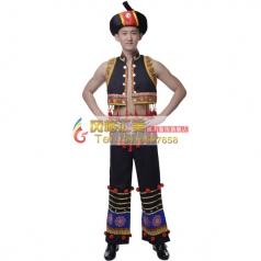 批发彝族舞蹈服装专业演出服装批发工厂_风格汇美演出服饰