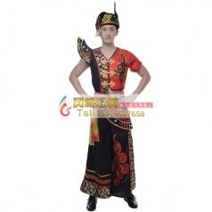 彝族舞蹈服装工厂专业定制演出服装_风格汇美演出服饰