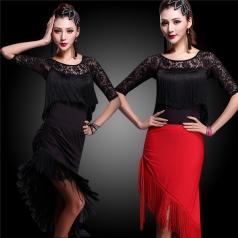 拉丁舞服装女成人套装定制_风格汇美演出服饰