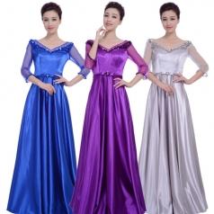 新款女士合唱服礼服 大合唱服装定制_风格汇美演出服饰