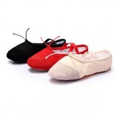 风格汇美芭蕾舞蹈鞋子女式皮头练习练功鞋软底猫爪舞蹈鞋拉丁舞鞋