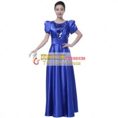 风格汇美女士合唱服装演出服大摆裙新款中老年大合唱团服装长裙