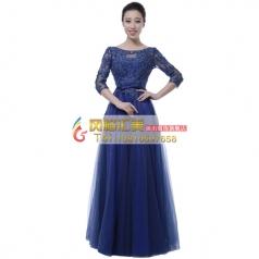 风格汇美女士大合唱指挥服装宝蓝色合唱服演出服新款指挥服装定制