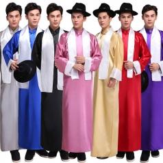 风格汇美民国古装长衫五四男学生服装相声大褂古代服装长袍马褂_风格汇美演出服饰