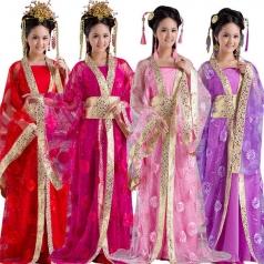 风格汇美古装演出服定做女士古装表演服定做表演服装