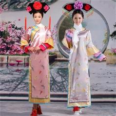 风格汇美清代女士服装古装演出服装厂家演出服饰