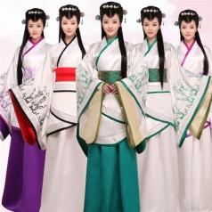 风格汇美女士古代服装表演服装定做厂家舞台服饰古装表演服装