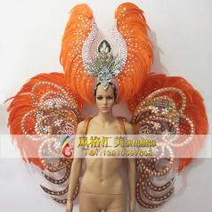 新款桑巴舞演出服装,狂欢节,羽毛服装批发工厂_风格汇美演出服饰桑巴舞服装定制