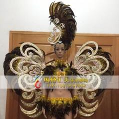新款巴西桑巴舞演出服装,狂欢节服装,巴西桑巴舞羽毛服装批发工厂_风格汇美演出服饰
