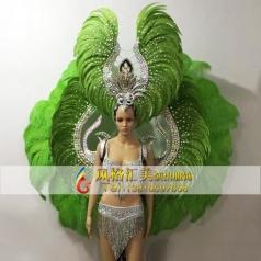 新款桑巴舞演出服,狂欢节演出服,巴西桑巴舞羽毛服饰定制专家_风格汇美演出服饰