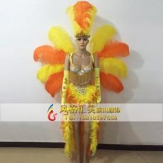 新款巴西桑巴舞服饰,桑巴舞服装演出服,桑巴舞蹈头饰定做专家_风格汇美演出服饰