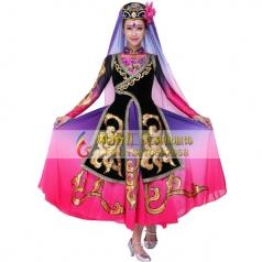 新疆演出服装 新疆舞蹈服装批发厂家_风格汇美演出服饰