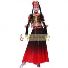 新疆舞蹈服饰 维吾尔族演出服批发厂家_风格汇美演出服饰