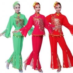 秧歌舞蹈服装 秧歌演出服装定制专家_风格汇美演出服饰