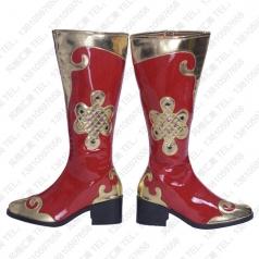民族舞蹈靴 蒙古族舞蹈靴子批发工厂_风格汇美演出服饰