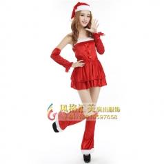 圣诞女郎装,圣诞节服装女批发_风格汇美演出服饰