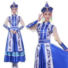 蒙古舞蹈服装 蒙古演出服装定制专家_风格汇美演出服饰