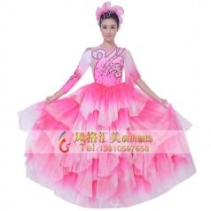 开场舞舞裙演出服装定制_风格汇美演出服饰