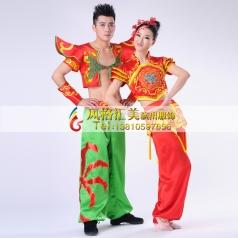 秧歌服装演出服 男女装 古典舞 开场舞民族舞蹈定做