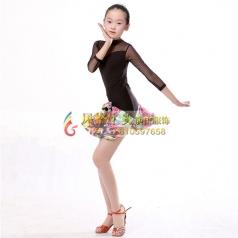 少儿拉丁舞蹈裙演出服定做厂家服饰_风格汇美演出服饰