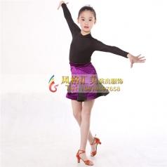 少儿拉丁练习服装表演服舞台裙拉丁服定做_风格汇美演出服饰