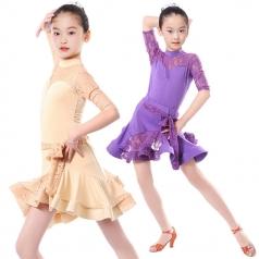女式拉丁舞蹈裙定做表演服厂家直销_风格汇美演出服饰