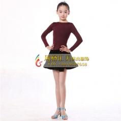 拉丁舞蹈裙少儿女拉丁舞蹈演出服定做_风格汇美演出服饰