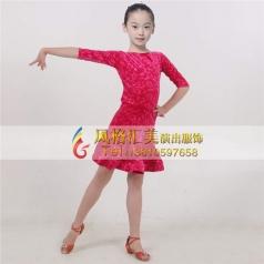 女式拉丁比赛服装表演裙定做_风格汇美演出服饰