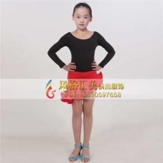 少儿拉丁舞蹈服女式舞台服装定做厂家_风格汇美演出服饰